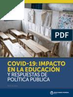 Covid19 EDUCACION