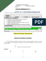GUIA APRENDIZAJE N° 2 PRIMER AÑO MEDIO ( Números Racionales) (1) CON FRANCO SANCHEZ