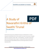 #3-Study of Navarathri Krithis of Swathi Tirunal