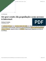 60 por cento da população sem acesso à internet | Sociedade | Jornal de Angola - Online