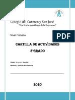 3°- Grado. CARTILLA DE ACTIVIDADES.Colegio del Carmen