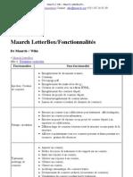 Maarch __ Wiki - Maarch LetterBox_Fonctionnalités