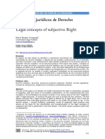 Conceptos juridicos de derecho subjetivo - MB Arriagada