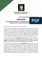 EXHORTACION AL CLERO DE BARQUISIMETO JULIO DE 2020