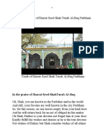 A Brief Biography of Hazrat Syed Shah Turab  al-Haq