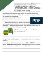 CIENCIAS EF03CI05 - VIDA E EVOLUÇÃO DOS SERES VIVOS (JOANINHA E DENGUE)