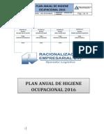 Plan Anual Higiene Ocupacional 2015 Raciemsa