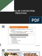 Tema 13  -  Sistema de Costeo por Procesos