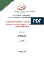SUSPENSION PERFECTA DE LABORES