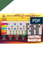 AFCAsianCup2011 Match Schedule