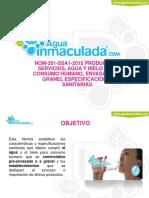 AGUA Y HIELO PARA CONSUMO HUMANO NOM 201 SSA1-2015