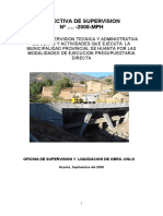DIRECTIVA DE SUPERVISION 2008-MUNICIPALIDAD PROVINCIAL DE HUANTA