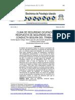 CLIMA DE SEGURIDAD OCUPACIONAL, respuesta de seguridad del jefe y conducta segura del trabajador.pdf