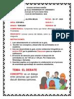 1. PLAN DE CONTINGENCIA ESPAÑOL 3 PERIODO