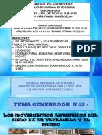 """Guia Didactica de Arte y Patrimonio """"Movimientos artisticos del Siglo XX en Venezuela"""""""