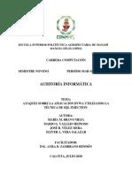 PRÁCTICA-ATAQUES DVWA CON LA TÉCNICA SQL INJECTION