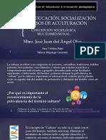EDUCACIÓN, SOCIALIZACIÓN Y PROCESOS DE ACULTURACIÓN