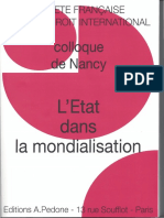 PELLET - 2012 - Transformation gouvernance internle (Colloque Nancy)