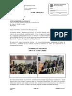 INFORME ACTIVIDADES INTERVENCION COTA MES DE AGOSTO