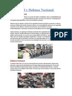 seguridad y defensa nacional