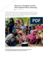 Open Letter and appeal for Rohingya refugees