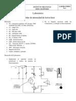 Laboratorio medidor de intensidad laser