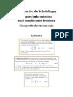 actividades ecuación de Schrödinger - pozo potencial infinito resultados