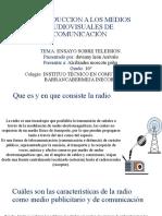INTRODUCCION A LOS MEDIOS AUDIOVISUALES DE COMUNICACIÓN