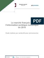 Etude de marché | Le marché français de l'information juridique numérique en 2010