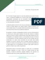Plataforma de la Intersocial - 30.07.20