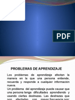 Presentación problemas de aprendizaje