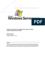 Guide to Creating and Configuring a Server Cluster