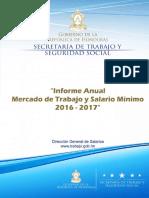 Informe salario mínimo  2017