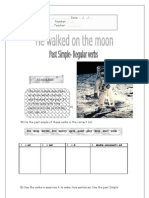 "past simple ""walk on the moon"""
