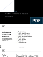 11 VARIABLES OPERATIVAS DE FLOTACIÓN