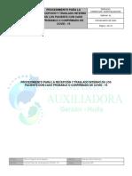 PROCEDIMIENTO PARA LA RECEPCIÓN Y TRASLADO INTERNO DE LOS PACIENTE CON CASO PROBABLE O CONFIRMADO DE COVID - 19.pdf