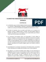 Comunicado de solidaridad con la Dra. Rigoberta Menchú