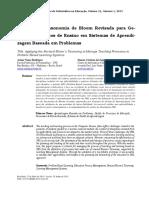 TAXONOMIA DE BLOOM PARA GERENCIAMENTO DE ENSINO E SISTEMA DE APRENDIZAGEM BASEADA EM PROBLEMAS