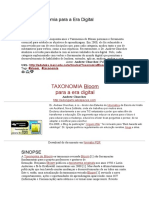 Bloom Taxonomia para a Era Digital tradução