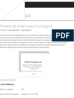 Modelo de Anamnesis Psicológica - Neopsicologia