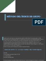 MÉTODO DEL ÍNDICE DE GRUPO