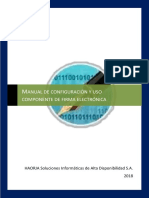 Manual de configuración y uso del componente de firma electronica FINAL