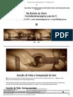 Acordes de Viola e transposição de tons - No Batido da Viola