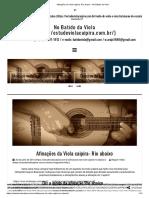 Afinações da Viola caipira- Rio abaixo - No Batido da Viola