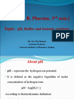 Unit V pH, Buffers and Isotonic solution ppt