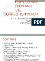 restorative space and occlusal evaluation rpd