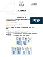 Talasemia Ficha de Aprendizaje