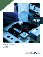 Rapport - La recherche au LNE en 2018