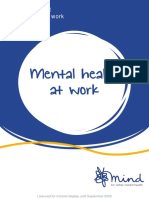 How to be mentally healthy at work (Mind e-booklet)