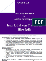 HVPE 0.1 Holistic Devl & Role of Edu